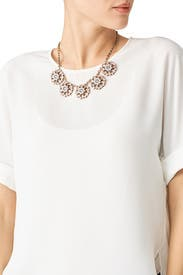 Blush Crystal Statement Necklace by Slate & Willow Accessories
