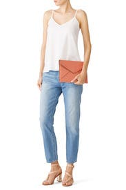 Peach Leo Clutch by Rebecca Minkoff Accessories
