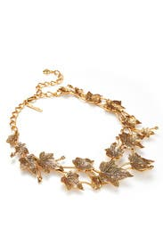 Russian Gold Ivy Necklace by Oscar de la Renta