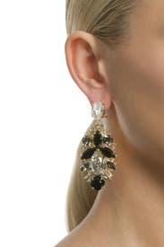 Crystal Leaf Earrings by Anton Heunis