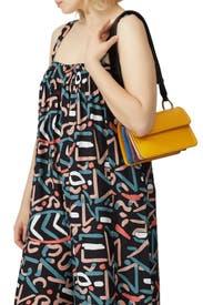 Yellow Calfskin Beat Bag by Marni Accessories