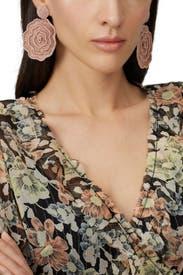 Beaded Flower Earring by Kenneth Jay Lane