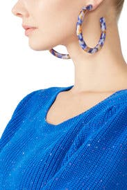 Broadway Hoop Earrings by Lele Sadoughi