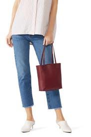 Red Leather Tote by Jil Sander Navy Handbags