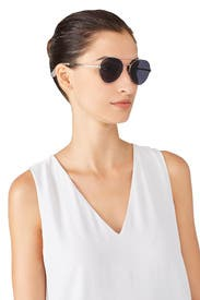 Silver York Sunglasses by Elizabeth and James Accessories
