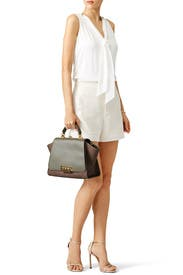 Olive Crocodile Eartha Handbag by ZAC Zac Posen Handbags