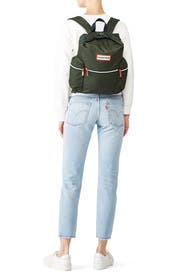 Olive Top Clip Backpack by Hunter Handbags