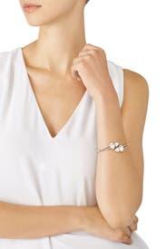 Pave Stone Hinged Bracelet by Jenny Packham