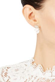 Delicate Petal Crystal Studs by Slate & Willow Accessories