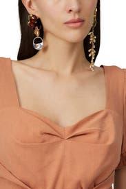 Leonard Collage Asymmetrical Earrings by ELLERY Accessories