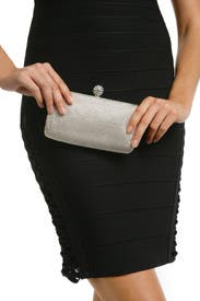 Silver Mesh Glam Clutch by Whiting & Davis
