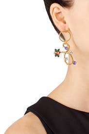 New Day Loop Earrings by Erickson Beamon