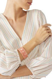 Acrylic Pink Cuff by Slate & Willow Accessories