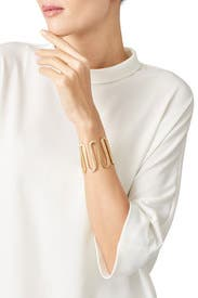Gold Clark Cuff by Elizabeth and James Accessories