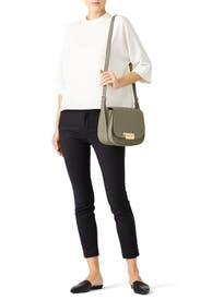 Beige Eartha Iconic Saddle Bag by ZAC Zac Posen Handbags