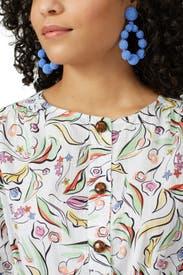 Cornflower Beaded Teardrop Earrings by Sachin & Babi Accessories