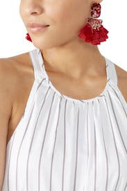 Red Fringe Earrings by Slate & Willow Accessories