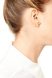 Vogel Pave Stud Earrings by Elizabeth and James Accessories