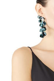 Blue Petal Drop Earrings by Lele Sadoughi