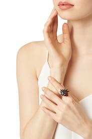 Hyperdrive Jewel Cluster Ring by Erickson Beamon