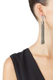 Gunmetal Beaded Earrings by Slate & Willow Accessories