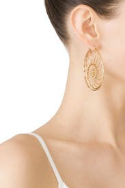 Fiddlehead Fern Earrings by Tory Burch Accessories