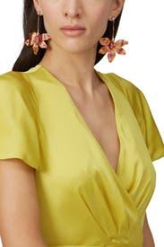Mesh Dahlia Earrings by Colette Malouf