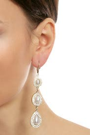 Crystal Pearl Earrings by Slate & Willow Accessories