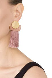 Mulberry Fringe Earrings by Lizzie Fortunato