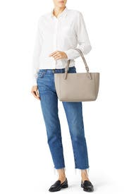 Grey York Buckle Tote by Tory Burch Accessories