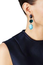 Blue Rose Earrings by Oscar de la Renta