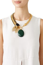 Emerald Flower Necklace by Marni Accessories