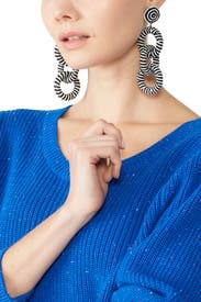 Three Ring Earrings by Kenneth Jay Lane