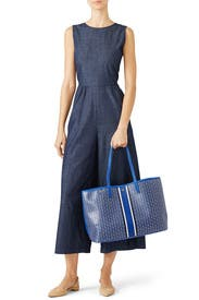 Blue Gemini Link Tote by Tory Burch Accessories