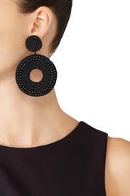 Beaded Circle Earrings by Kenneth Jay Lane