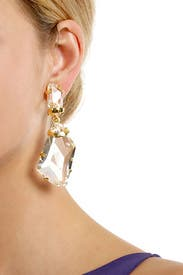 Polished Crystal Drop Earrings by Kenneth Jay Lane