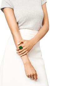 Green Tessera Ring by Kenneth Jay Lane
