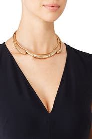 Golden Hinged Collar by Kenneth Jay Lane