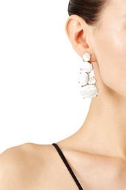 Mother of Pearl Drop Earrings by Kenneth Jay Lane