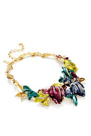 Multicolor Tulip Necklace by Oscar de la Renta