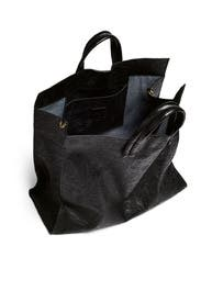 Black Floral Simple Tote by Clare V.