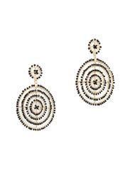 Beaded Circle Drop Earrings by Kenneth Jay Lane