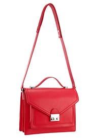 Flame Red Medium Rider Bag by Loeffler Randall