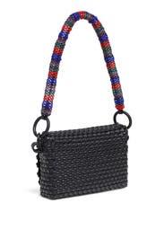 Black Beaded Baguette Bag by Truss
