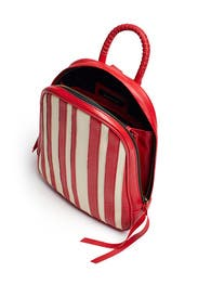 Striped Clarence Backpack by Cleobella Handbags