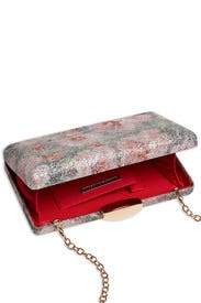 Pink Floral Box Clutch by Sondra Roberts