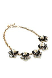 Floral Sequin Necklace by Slate & Willow Accessories