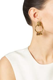 Retro Gold Earrings by Lizzie Fortunato