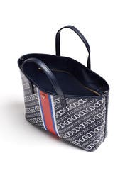 Navy Gemini Link Tote by Tory Burch Accessories