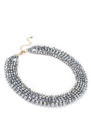Deep Metallic Collar Necklace by Slate & Willow Accessories